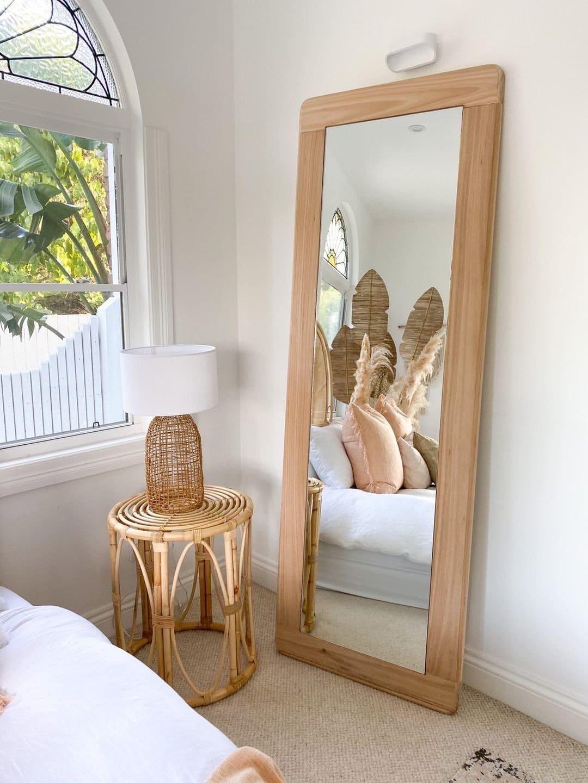 bespoke timber floor mirror